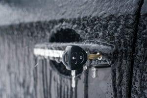 How to Open a Frozen Car Door