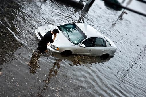 Flood Damaged Car